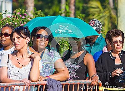Black Woman Using Umbrella As Sunshield Editorial Photo