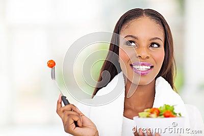 Black woman vegetable
