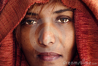 Black woman with veil