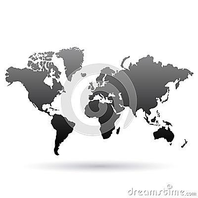 Black World Map