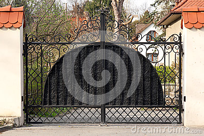Black wrought gate