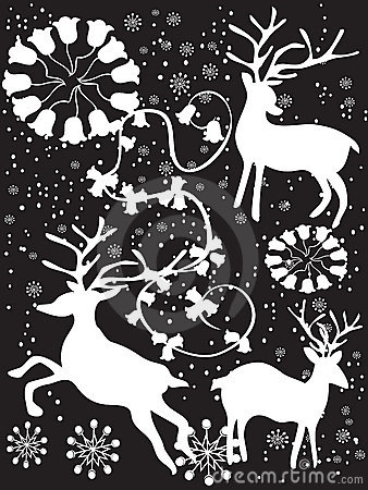 Black xmas background