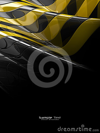 Black and yellow abstract plastic texture