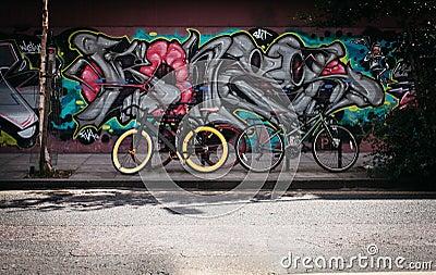 Black And Yellow Fatbike Beside Mountain Bikes Free Public Domain Cc0 Image