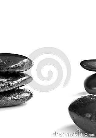 Black zen or spa stones