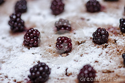 Blackberry Cake Stock Photo - Image: 46468873