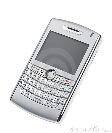 Blackberry like device with clipping path Editorial Image