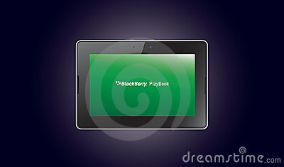 BlackBerry PlayBook computer tablet Editorial Stock Photo