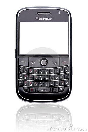 Blackberry smart phone isolated Editorial Stock Image