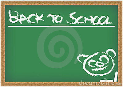 Blackboard with Back to School Sign