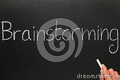 Blackboard brainstorming writing