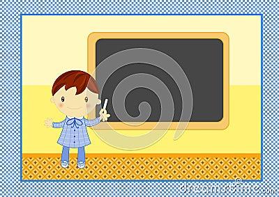 Blackboard chłopiec szkoła