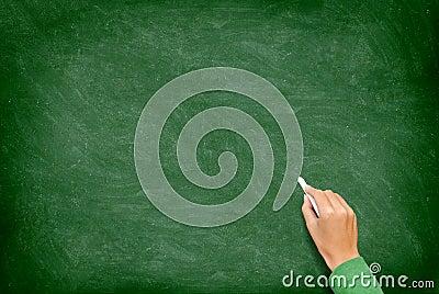 Blackboard / Chalkboard with Hand