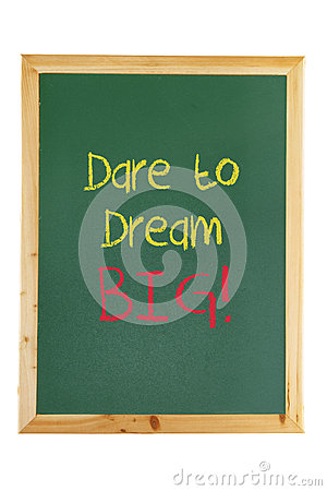 Blackboard with Inspiration Message