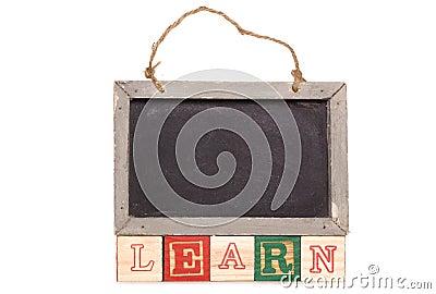 Blackboard with learn text