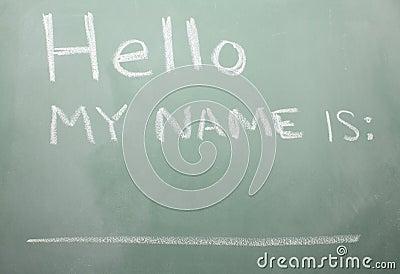 Blackboard Nametag