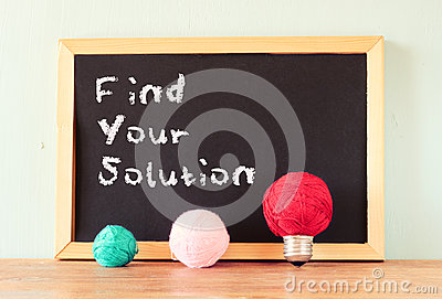 Blackboard with the phrase find your solution written on it.