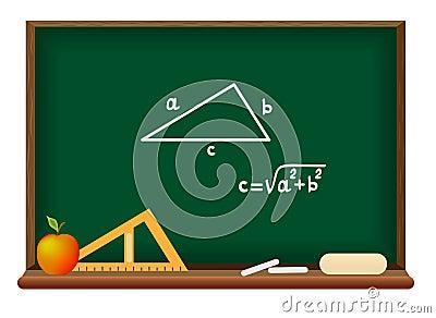 Blackboard. School geometry