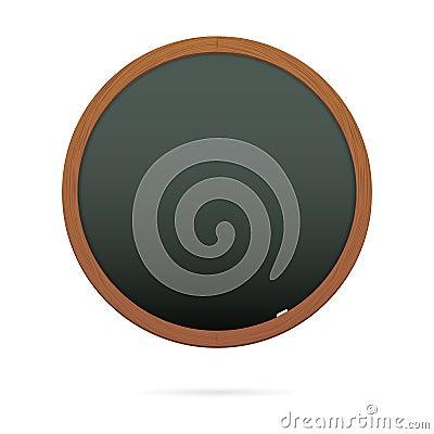 Blackboard in the shape of circle