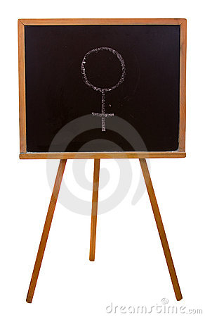 Blackboard with sticky