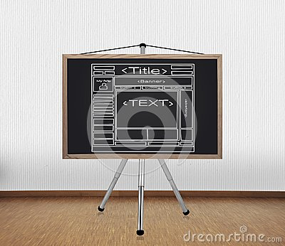 Blackboard with template  website