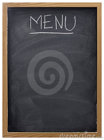 Blackboard used as menu