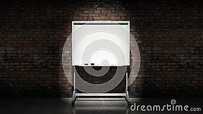 Blackboard on wall Brick mortar background