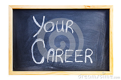 Blackboard with the Words Your Career
