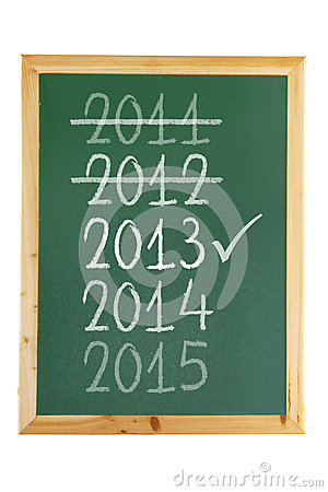 Blackboard with Years