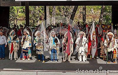 Blackfoot Elders Editorial Stock Image