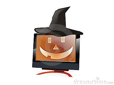BlackHat Halloween lcd monitor