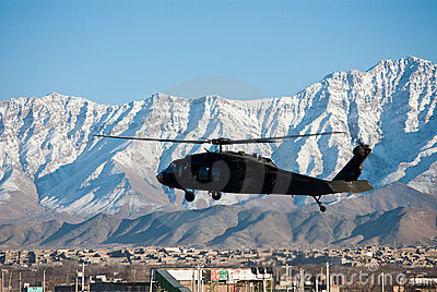 Blackhawk Landing In Kabul
