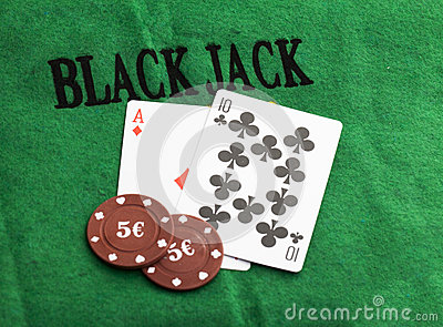 Blackjack with betting chips