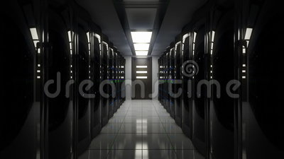 Blackout in server room. Blackout in a server room