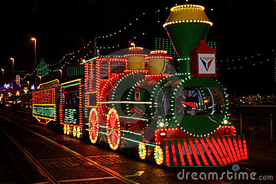 Blackpool Illuminations Tram Editorial Image