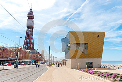 Blackpool Queens Promenade Editorial Photography