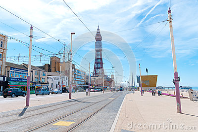 Blackpool Queens Promenade Editorial Stock Photo