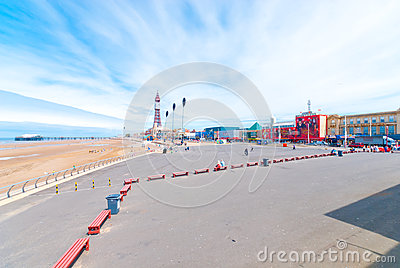 Blackpool Queens Promenade Editorial Image