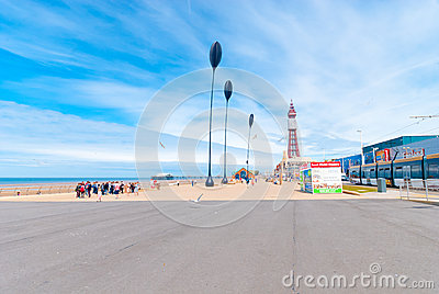 Blackpool Queens Promenade Editorial Stock Image