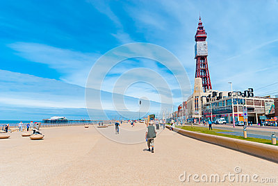 Blackpool Queens Promenade Editorial Stock Image
