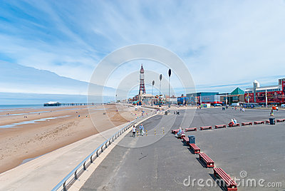 Blackpool Queens Promenade Editorial Photo