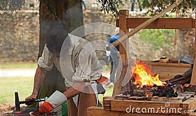 The blacksmith Editorial Stock Image