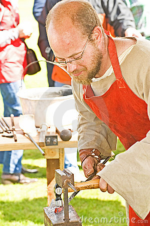 The Blacksmith. Editorial Stock Photo