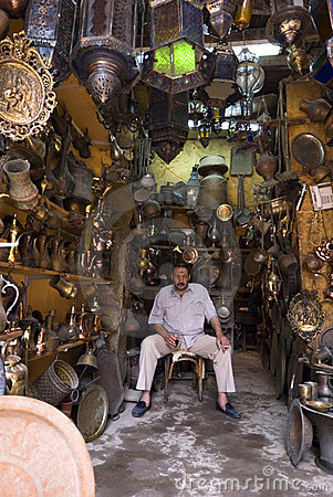The blacksmith in cairo Editorial Stock Image
