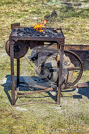 Blacksmith forge.