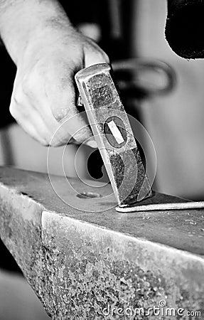 Blacksmith Working Closeup