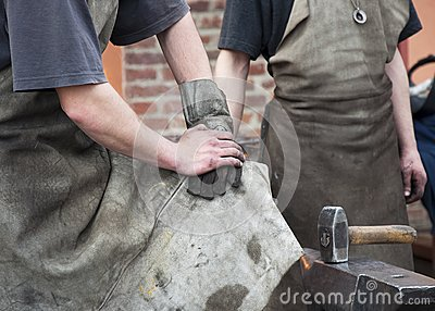 Blacksmith Working Men Royalty Free Stock Images - Image: 24729079
