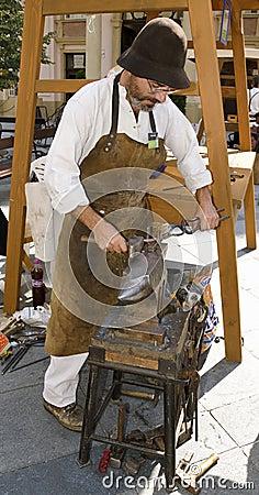 The blacksmithing Editorial Image