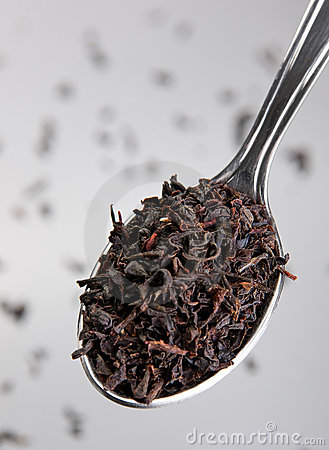 Free Blacky Tea In Spoon Stock Images - 14652054