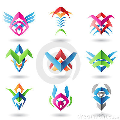 Blade like abstract icons